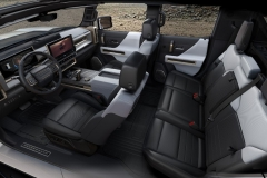 The 2022 GMC HUMMER EV's design visually communicates extreme capability, reinforced with rugged architectural details that are delivered with a premium, well-executed and appointed interior.